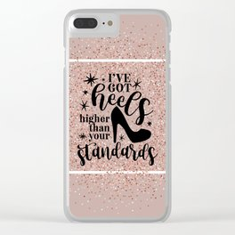 Higher Than Your Standards Quote Clear iPhone Case