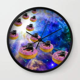 Pug Invasion Wall Clock
