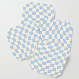 Check II - Baby Blue Twist — Checkerboard Print Coaster