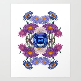 Birth Stone & Flower/SEPTEMBER Art Print