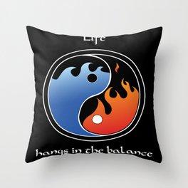 Life's Balance Throw Pillow