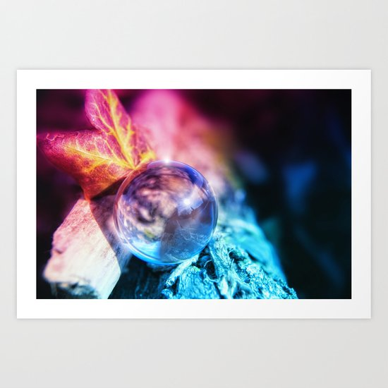 COLLECTION »CRYSTAL BALL« pink Art Print