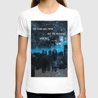 john green T-shirts featuring Paper Towns John Green  by denise