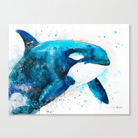 orca Canvas Prints featuring Orca  by Slaveika Aladjova