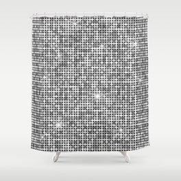 Shiny Disco Ball Silver Shower Curtain