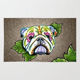 English Bulldog - Day of the Dead Sugar Skull Dog Rug