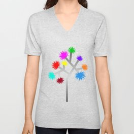 Joshua Tree Pom Poms by CREYES Unisex V-Neck