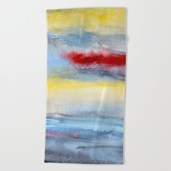 Touch of red Beach Towel