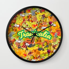 Tropicalia Fruits Wall Clock