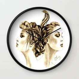 Intertwined Wall Clock