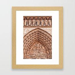 Notre Dame Mural Framed Art Print