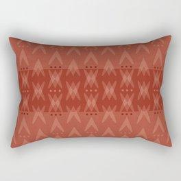 """""""Dark Coral (Pattern) Tribal"""" Rectangular Pillow"""
