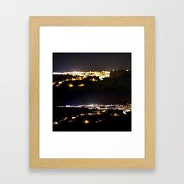 Ibiza by Night Framed Art Print