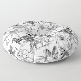 botanical jungle Floor Pillow