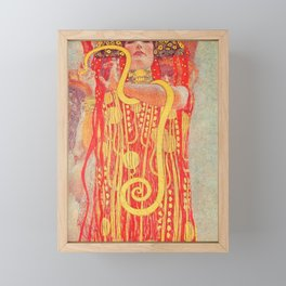 Gustav Klimt - Greek Goddess of Medicine Hygeia Framed Mini Art Print