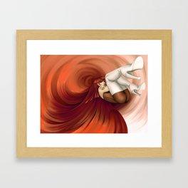 Time Antigrav - Red Framed Art Print