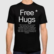 Free Hugs* Black Mens Fitted Tee MEDIUM
