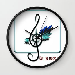 Let the music fly Wall Clock