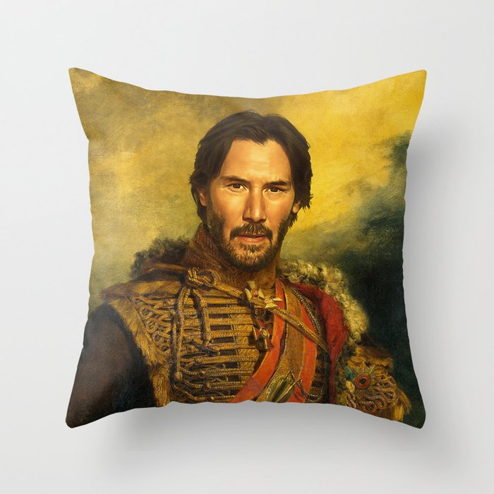 Keanu Reeves - replaceface Throw Pillow