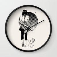 virgo Wall Clocks featuring virgo by hello friday