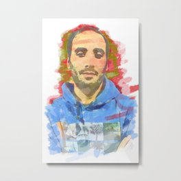 watercolor of the author's colors Metal Print
