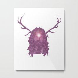 Crystal Antlers Metal Print