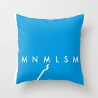 minimalism Throw Pillows featuring Minimalism• by Mike•Long