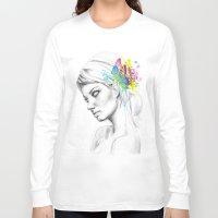 butterflies Long Sleeve T-shirts featuring Butterflies by Olechka