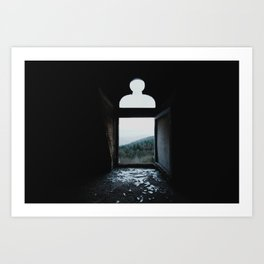 Shattered view Art Print