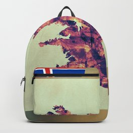 Iceland Map with Flag Backpack