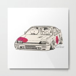 Crazy Car Art 0165 Metal Print