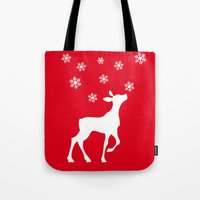 fawn Tote Bags featuring fawn by Li-Bro