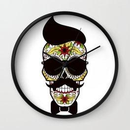 Mr. Sugar Skull Wall Clock
