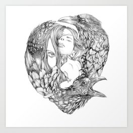 Brenna Whit - Line Art Print