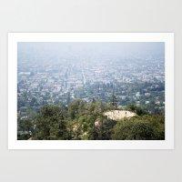 Los Angeles Hikers Art Print