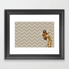 Chevron Giraffe! Framed Art Print