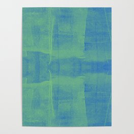 Blueish Green Paint Poster
