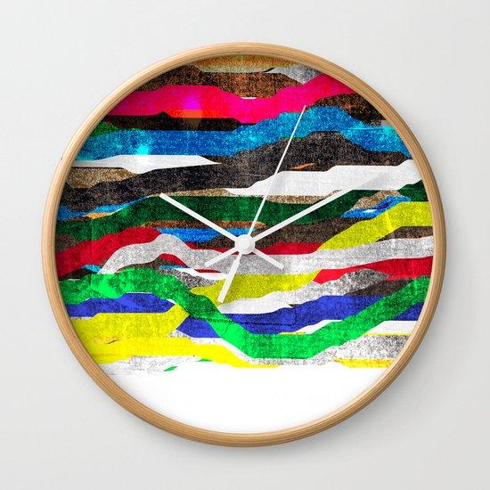 fancy stripes 2 Wall Clock