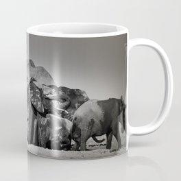 Elephant Herd Circling II Coffee Mug