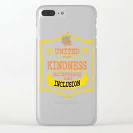 Great for all occassions Inclusion Tee BE INCLUSION Clear iPhone Case