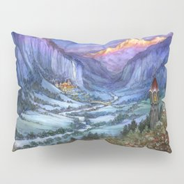 The Hidden Valley in Winter Pillow Sham