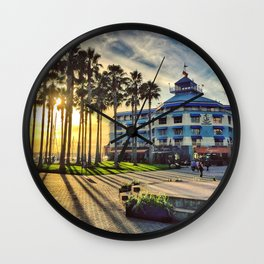 Sun Shy Wall Clock