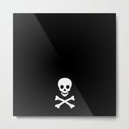 SKULL - BLACK & WHITE Metal Print