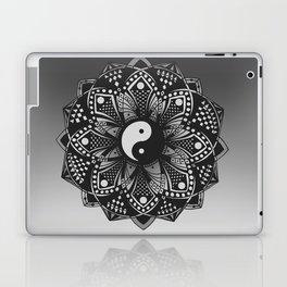 Yin and Yang Mandala (Black & White) Laptop & iPad Skin