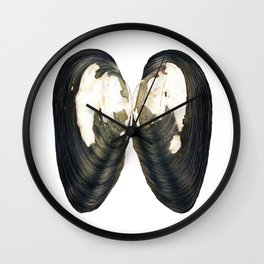 Thick Shelled River Mussel (Unio crassus) Wall Clock