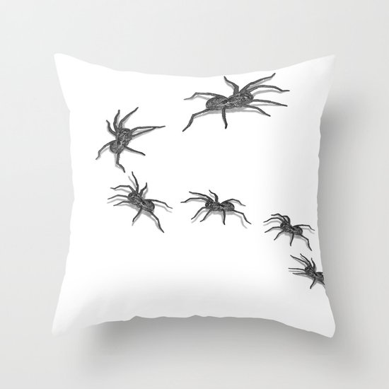 Wolf Spiders Throw Pillow