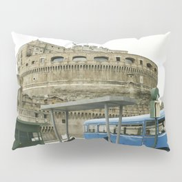 Castel Sant Angelo between past and present in color Pillow Sham