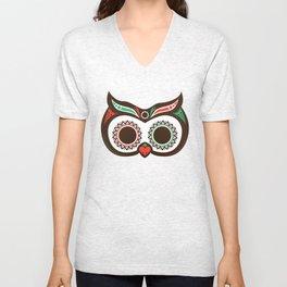 Day 0f the Dead Owl Unisex V-Neck