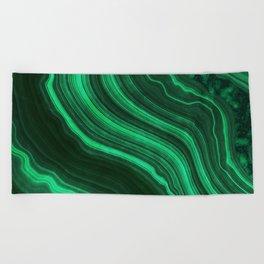 Malachite Texture 08 Beach Towel