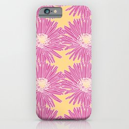 Hottentot Fig Floral Pattern iPhone Case